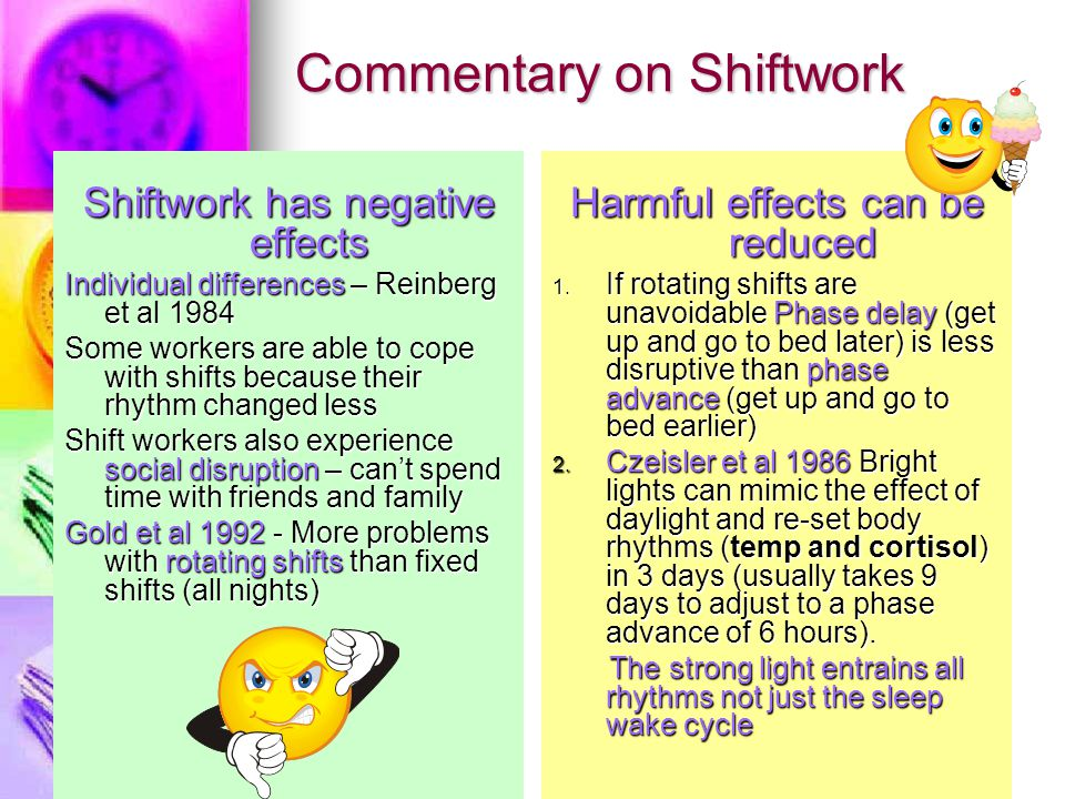 Commentary on Shiftwork
