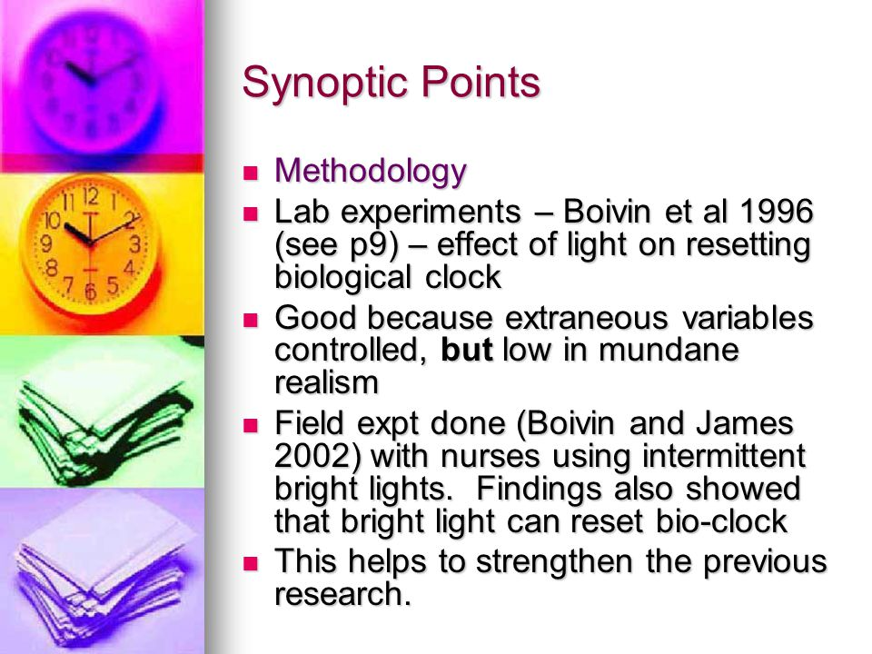 Synoptic Points Methodology