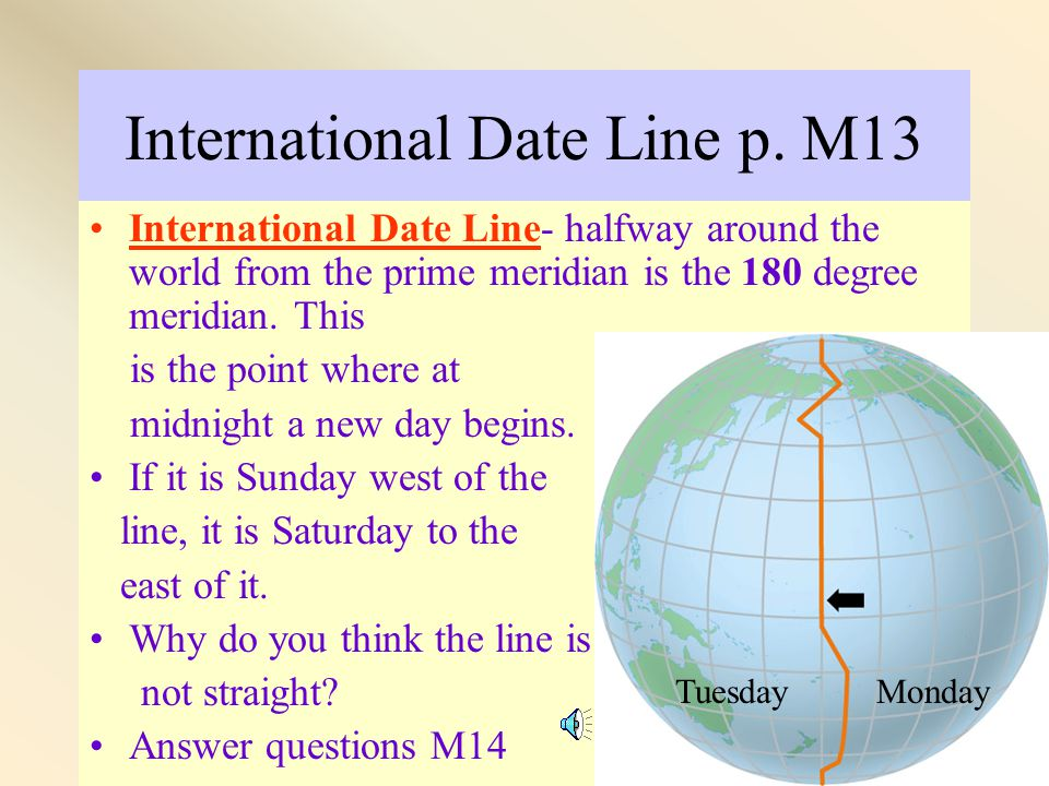 International Date Line p. M13