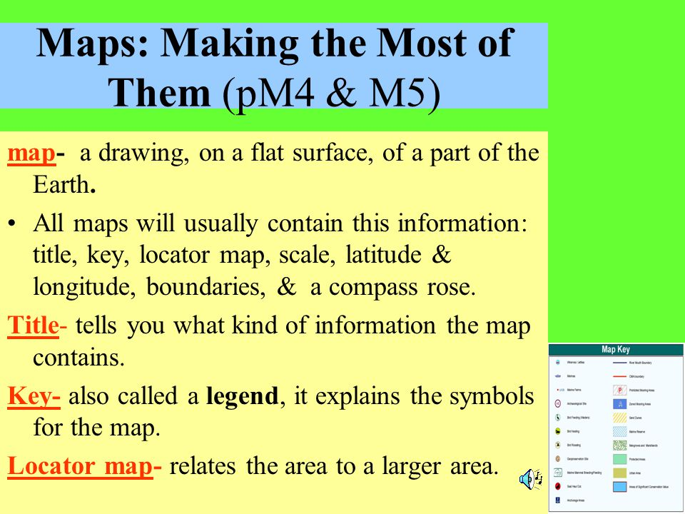 Maps: Making the Most of Them (pM4 & M5)