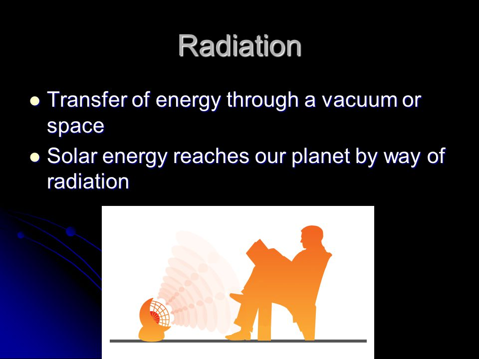 Radiation Transfer of energy through a vacuum or space