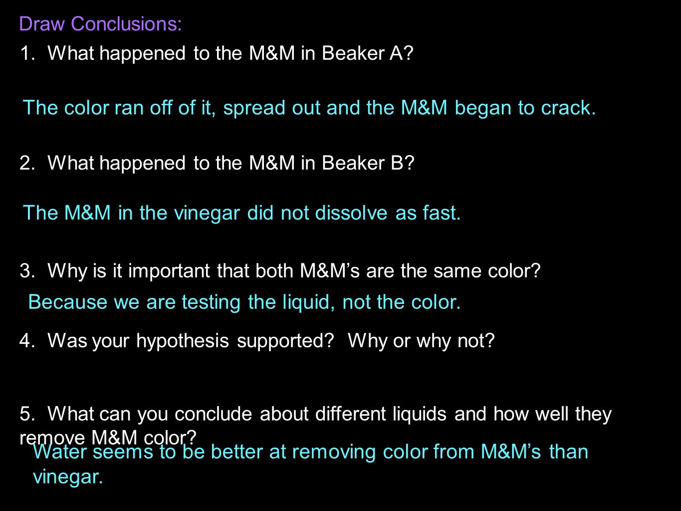 The color ran off of it, spread out and the M&M began to crack.