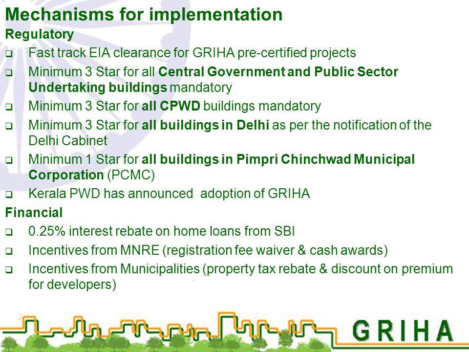 Mechanisms for implementation
