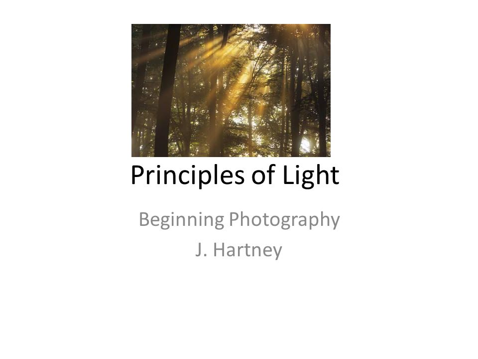 Beginning Photography J. Hartney