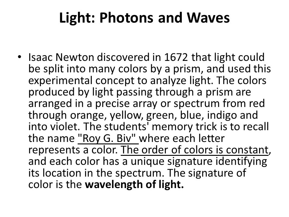 Light: Photons and Waves