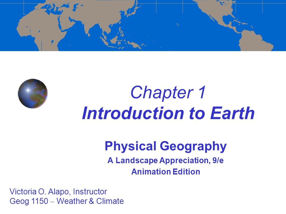 an introduction to the geography of the ocean on the earth Focus on the physical environment: earth's core naked science ocean and coastal systems focus on an introduction to physical geography.