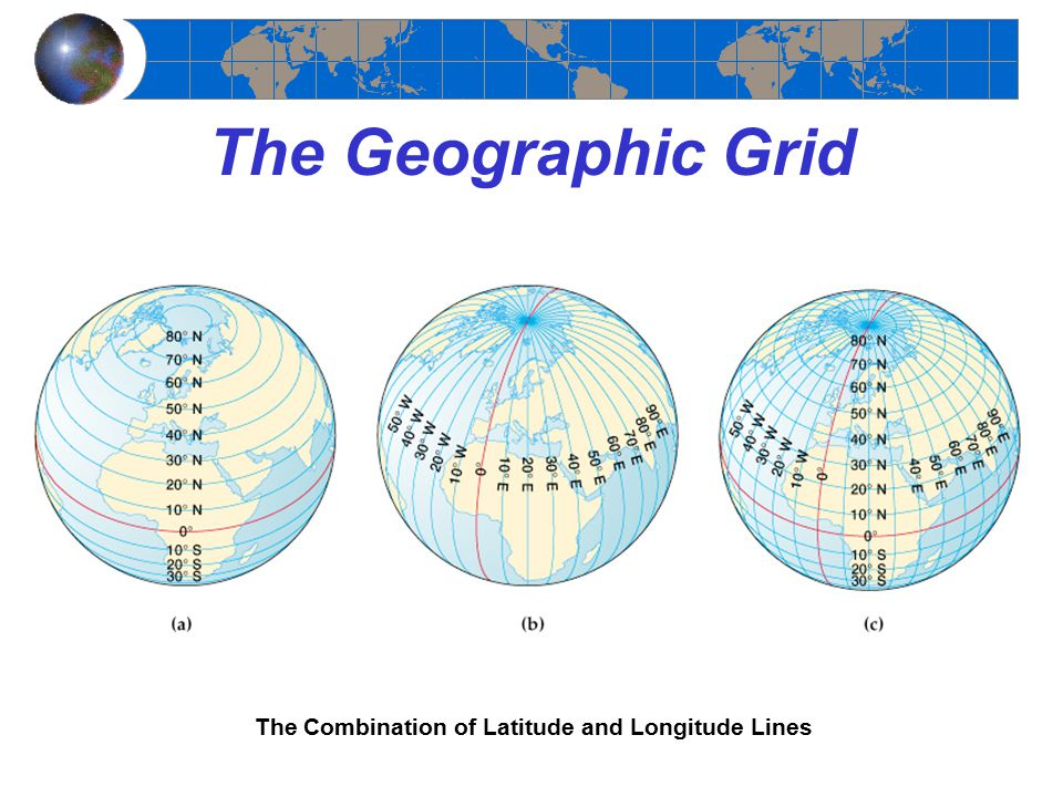 The Geographic Grid The Combination of Latitude and Longitude Lines