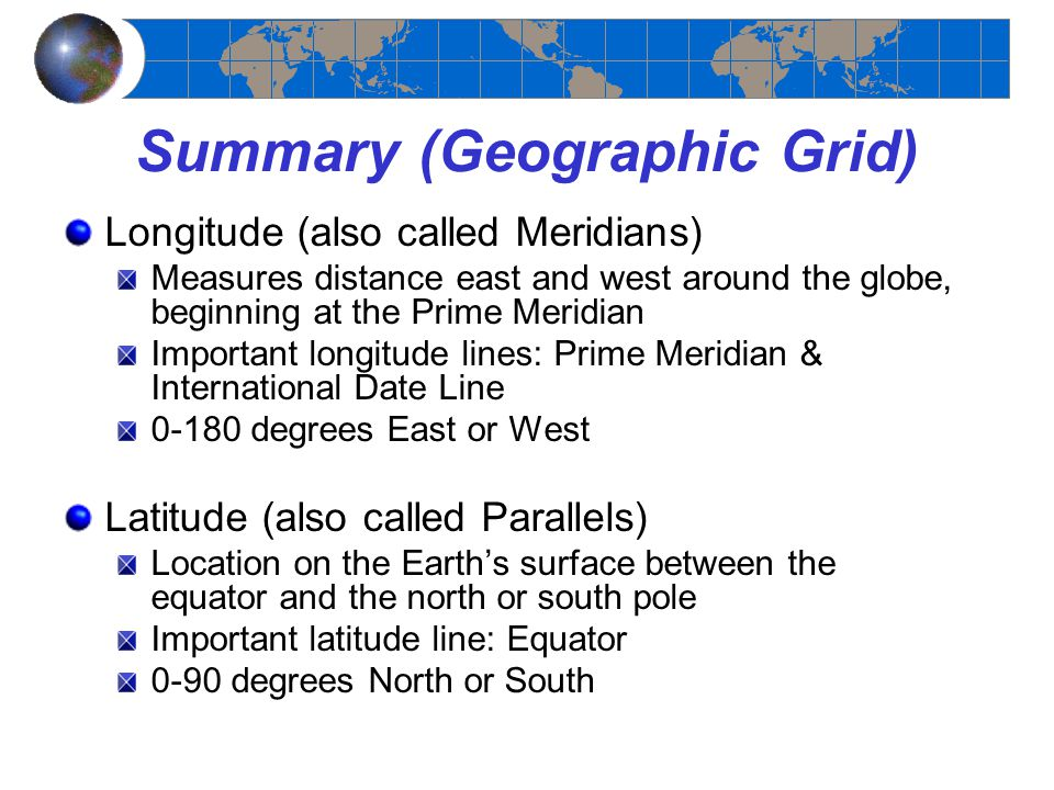 Summary (Geographic Grid)