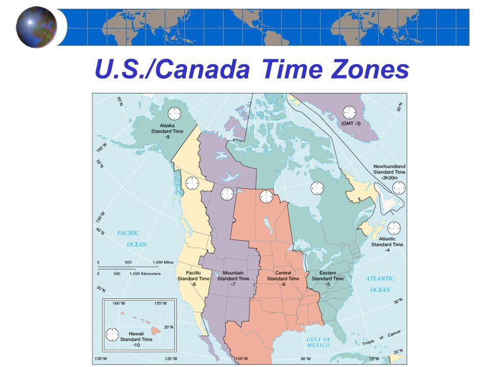 U.S./Canada Time Zones