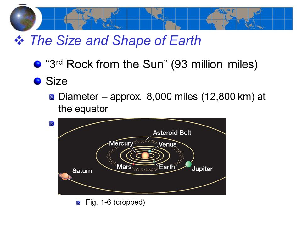 The Size and Shape of Earth