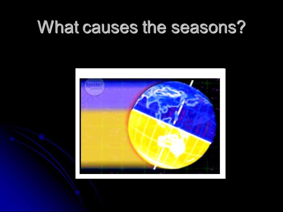 What causes the seasons