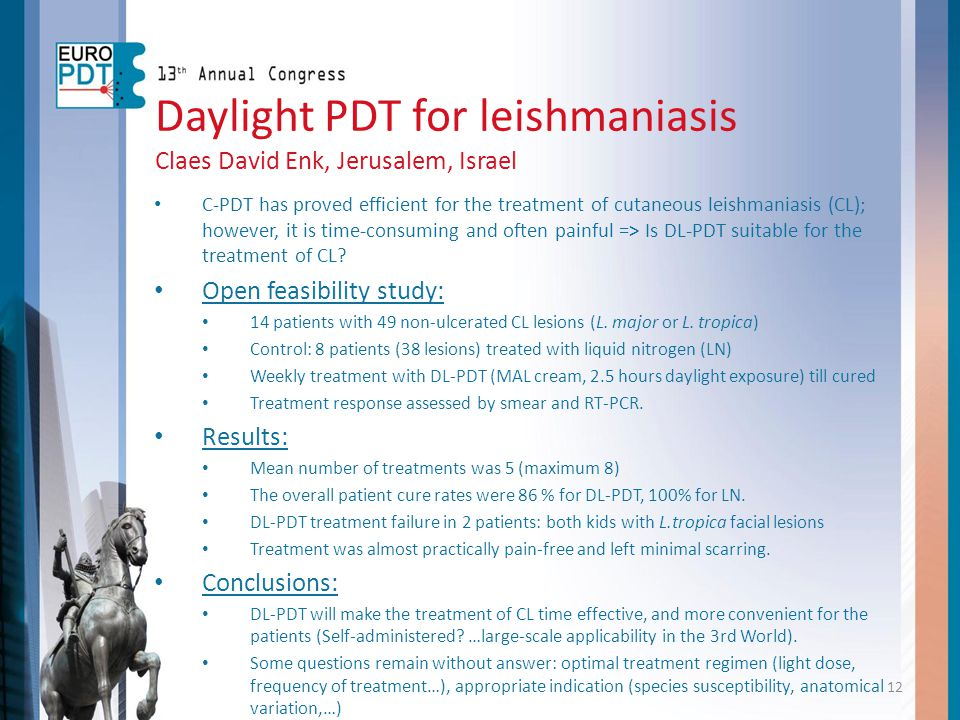 Daylight PDT for leishmaniasis