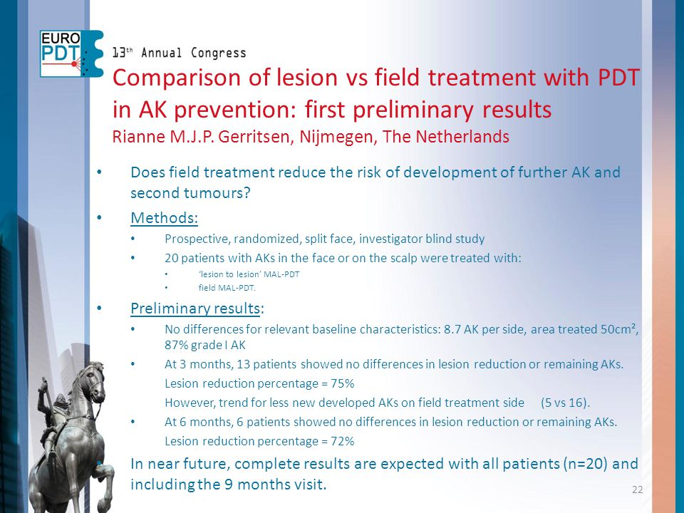 Comparison of lesion vs field treatment with PDT in AK prevention: first preliminary results