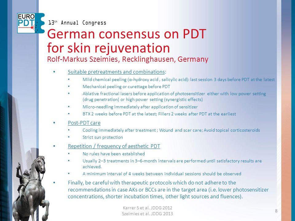 German consensus on PDT for skin rejuvenation