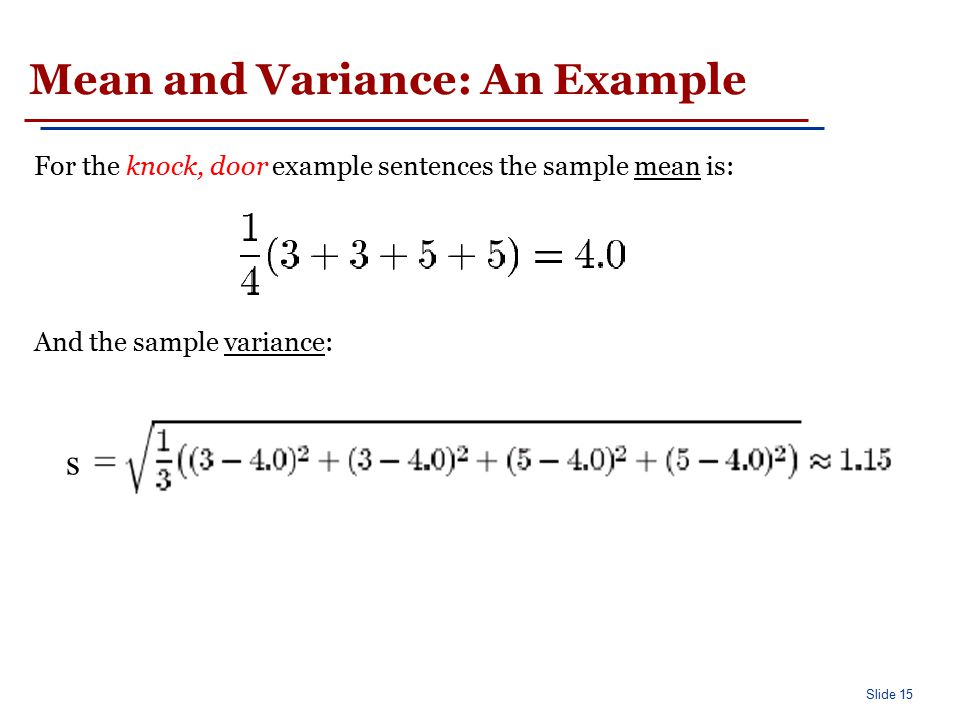 Finding collocations based on mean and variance