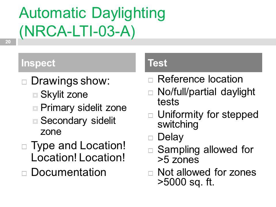 Automatic Daylighting (NRCA-LTI-03-A)