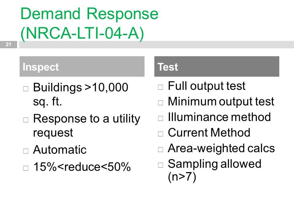 Demand Response (NRCA-LTI-04-A)