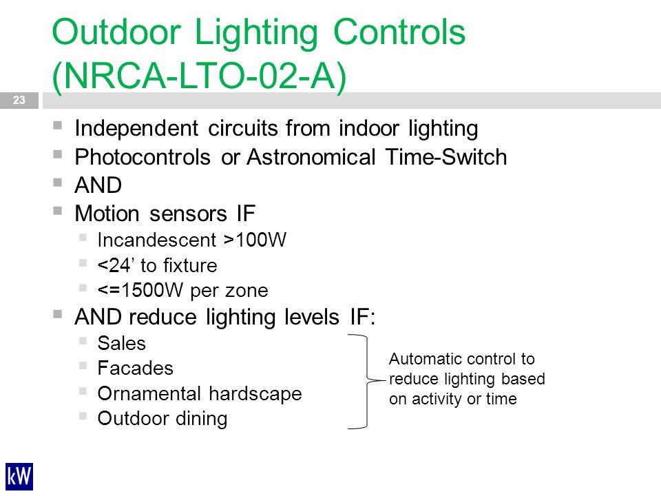 Outdoor Lighting Controls (NRCA-LTO-02-A)