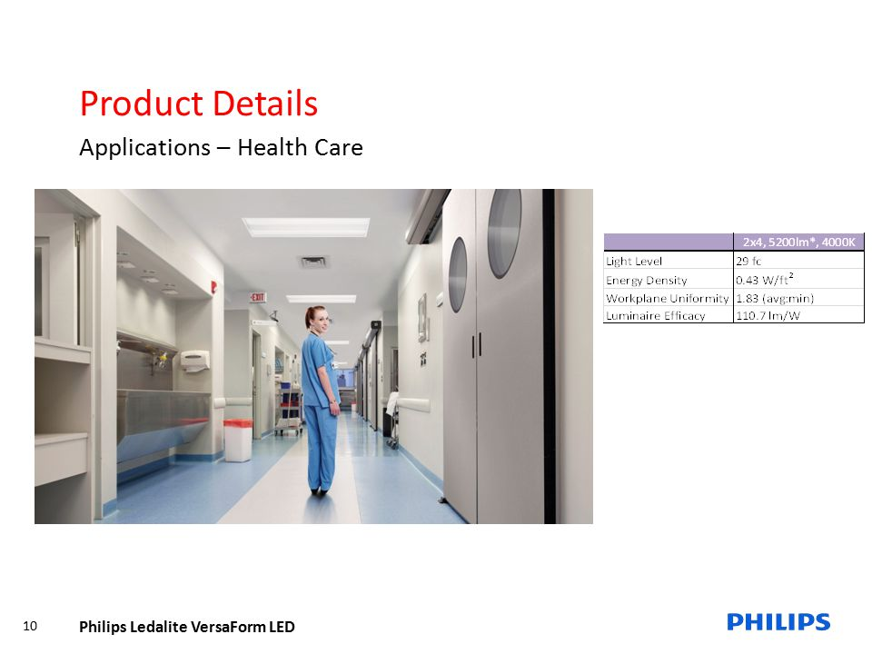 Product Details Applications – Health Care