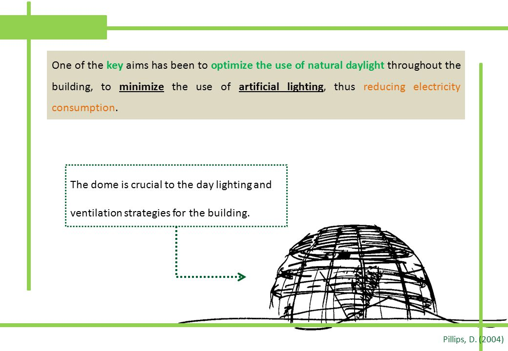 One of the key aims has been to optimize the use of natural daylight throughout the building, to minimize the use of artificial lighting, thus reducing electricity consumption.