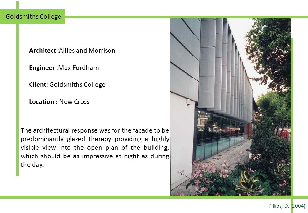 Architect :Allies and Morrison Engineer :Max Fordham