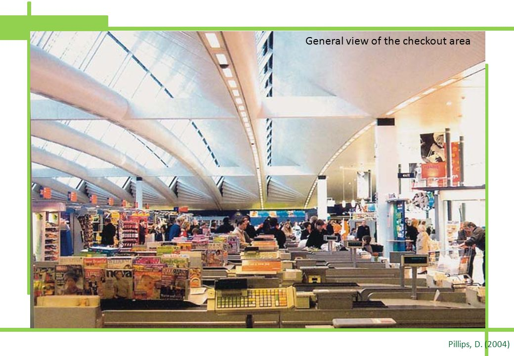 General view of the checkout area