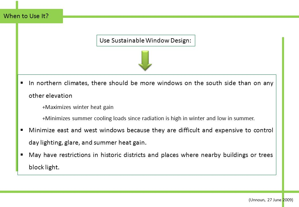 Use Sustainable Window Design: