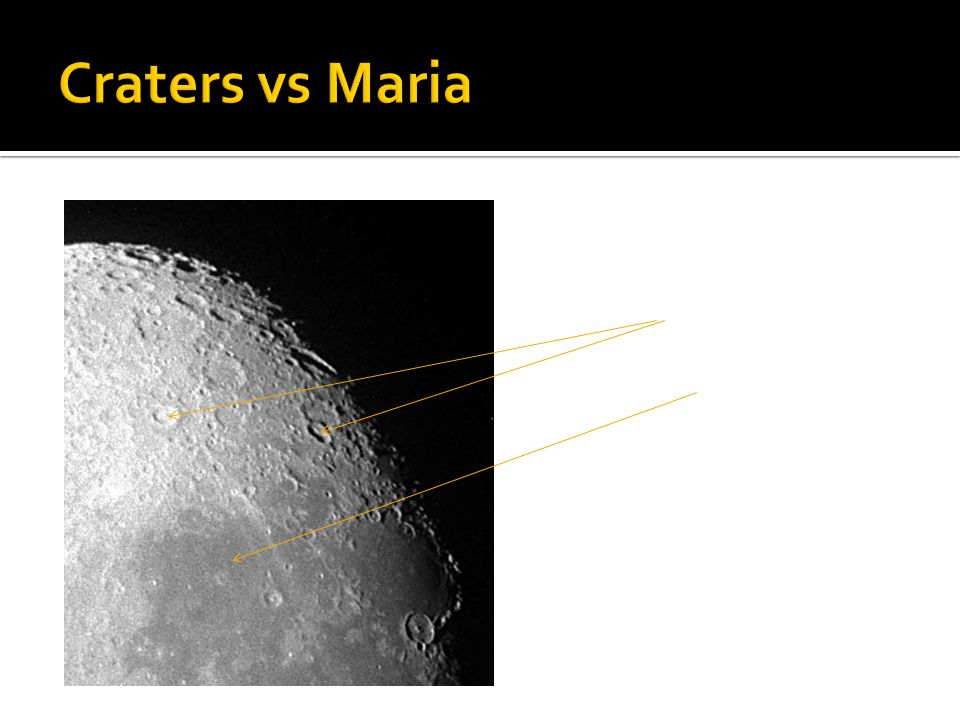 Craters vs Maria