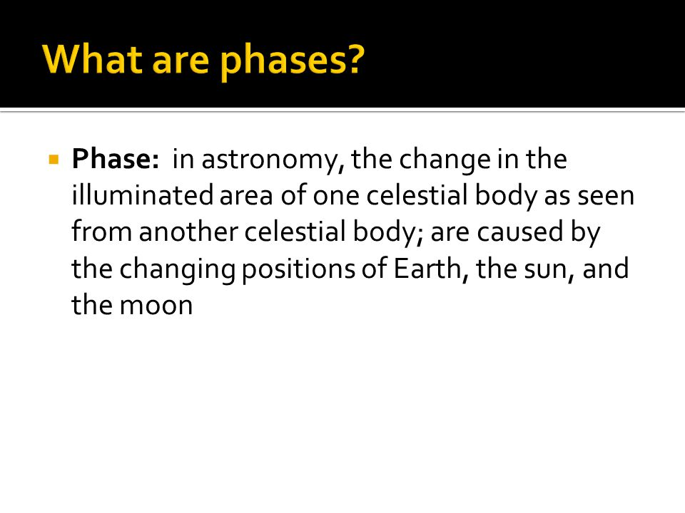 What are phases