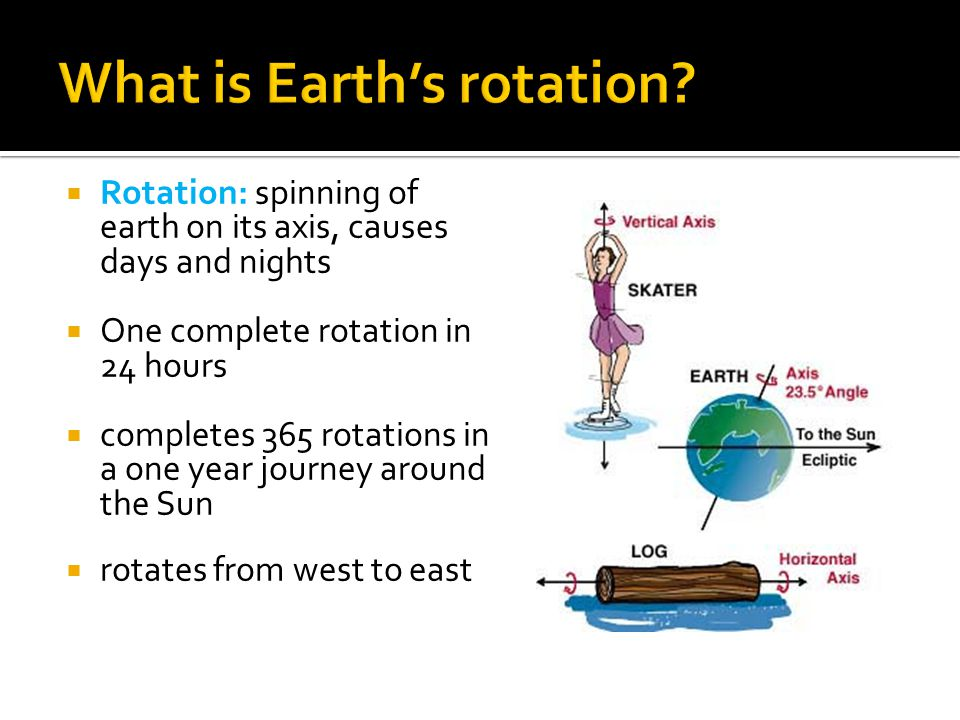 What is Earth's rotation