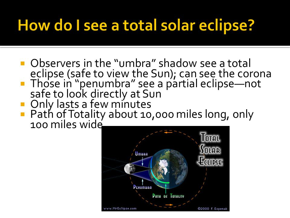 How do I see a total solar eclipse