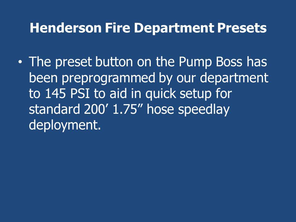 Henderson Fire Department Presets