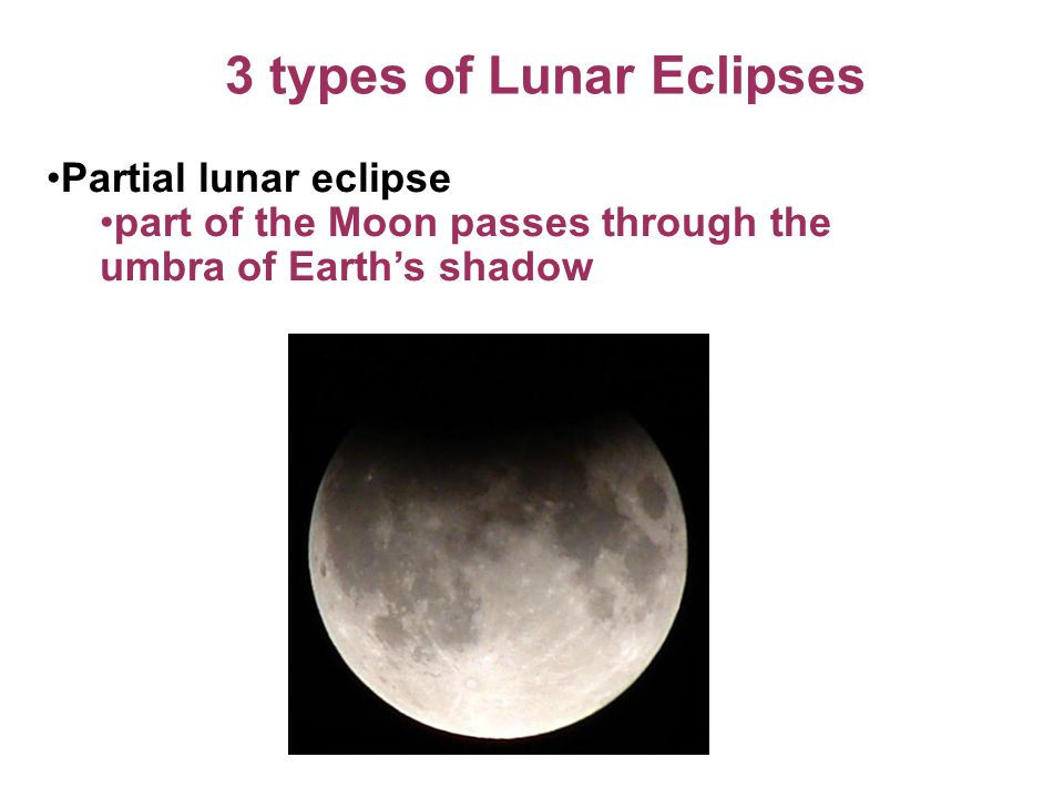 3 types of Lunar Eclipses