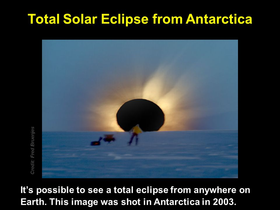 Total Solar Eclipse from Antarctica