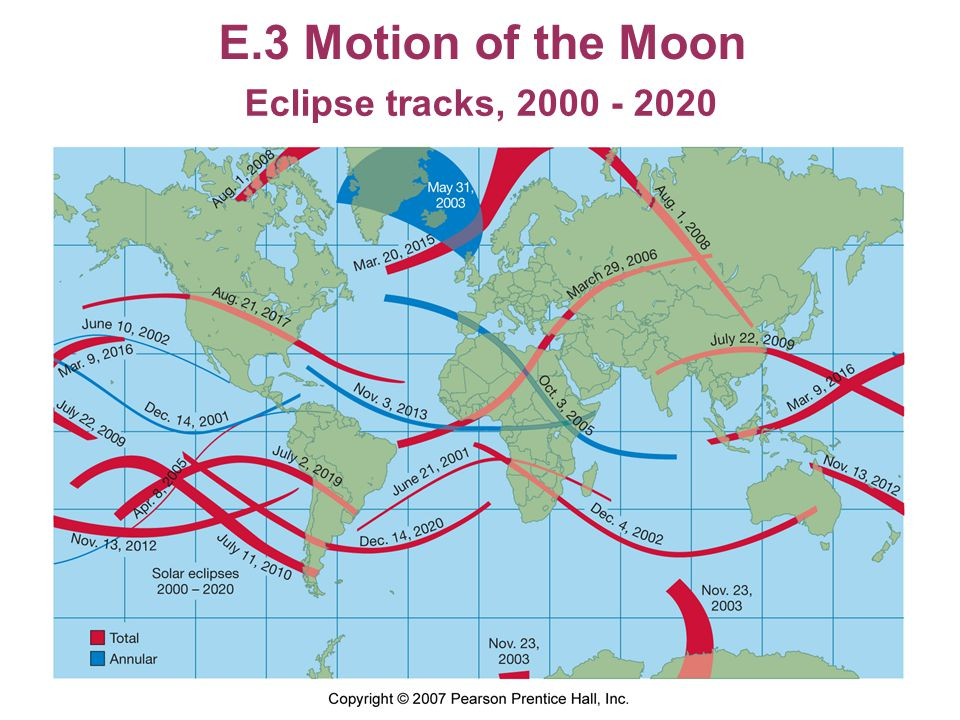 E.3 Motion of the Moon Eclipse tracks, 2000 - 2020