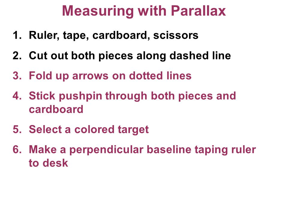 Measuring with Parallax