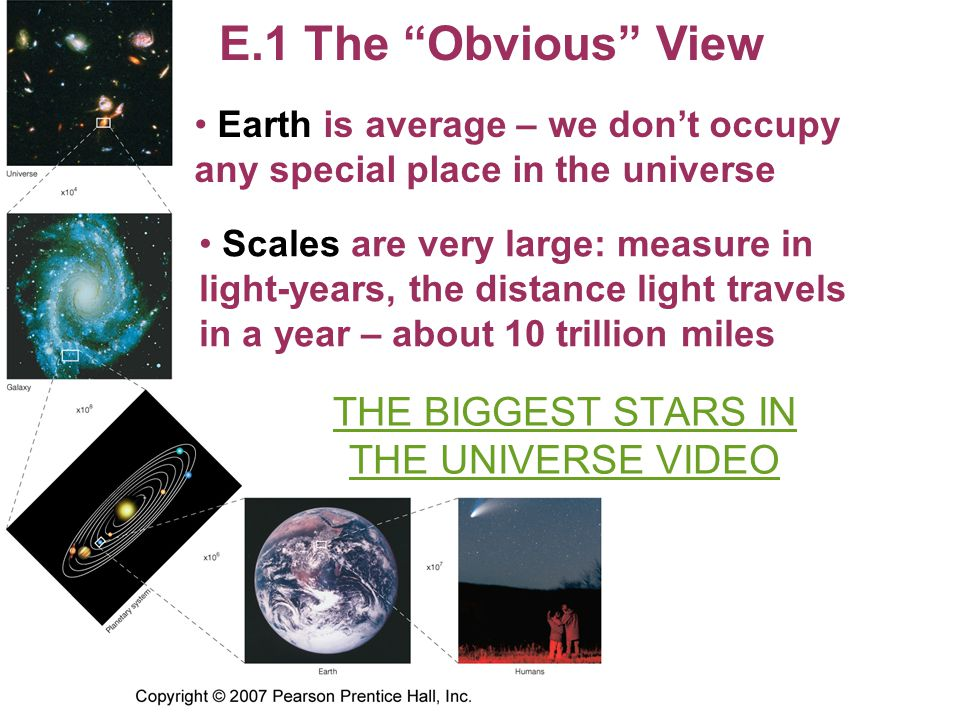 THE BIGGEST STARS IN THE UNIVERSE VIDEO