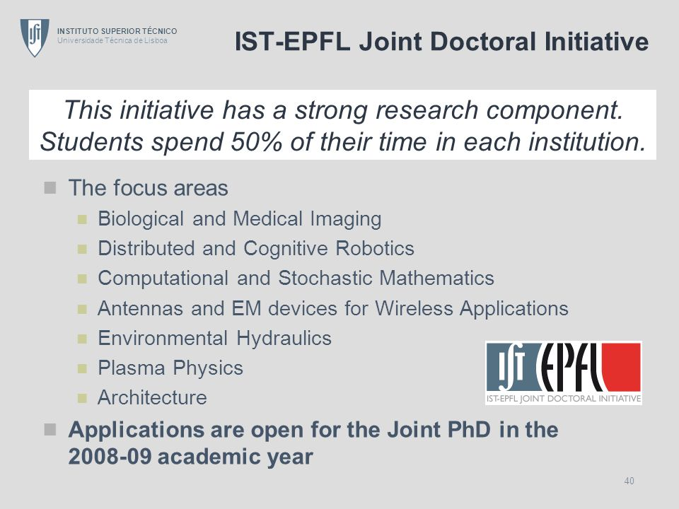 IST-EPFL Joint Doctoral Initiative