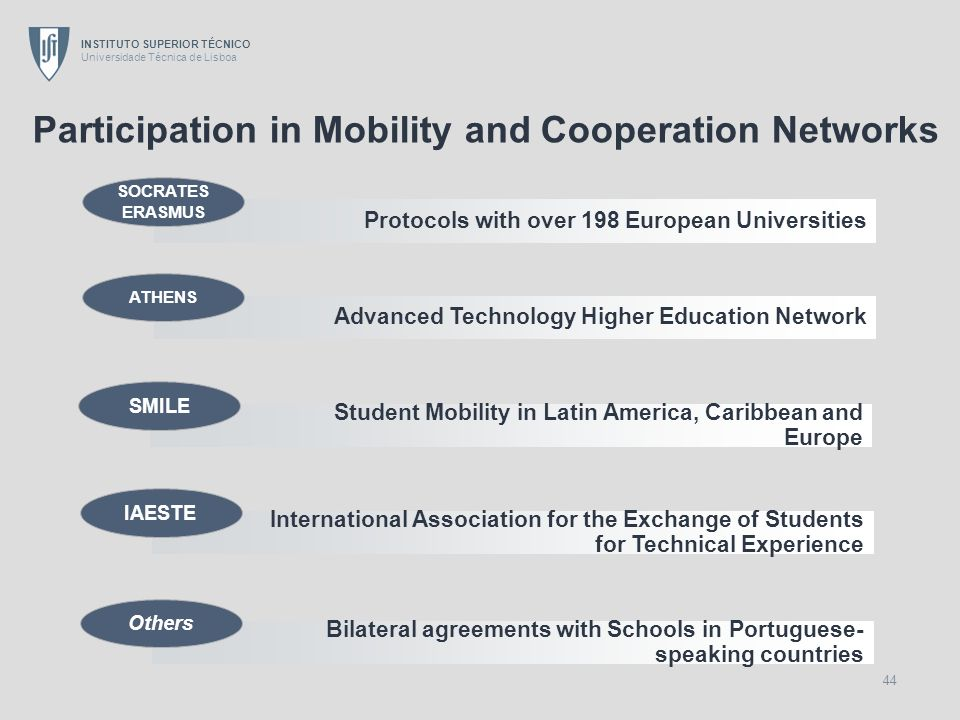 Participation in Mobility and Cooperation Networks