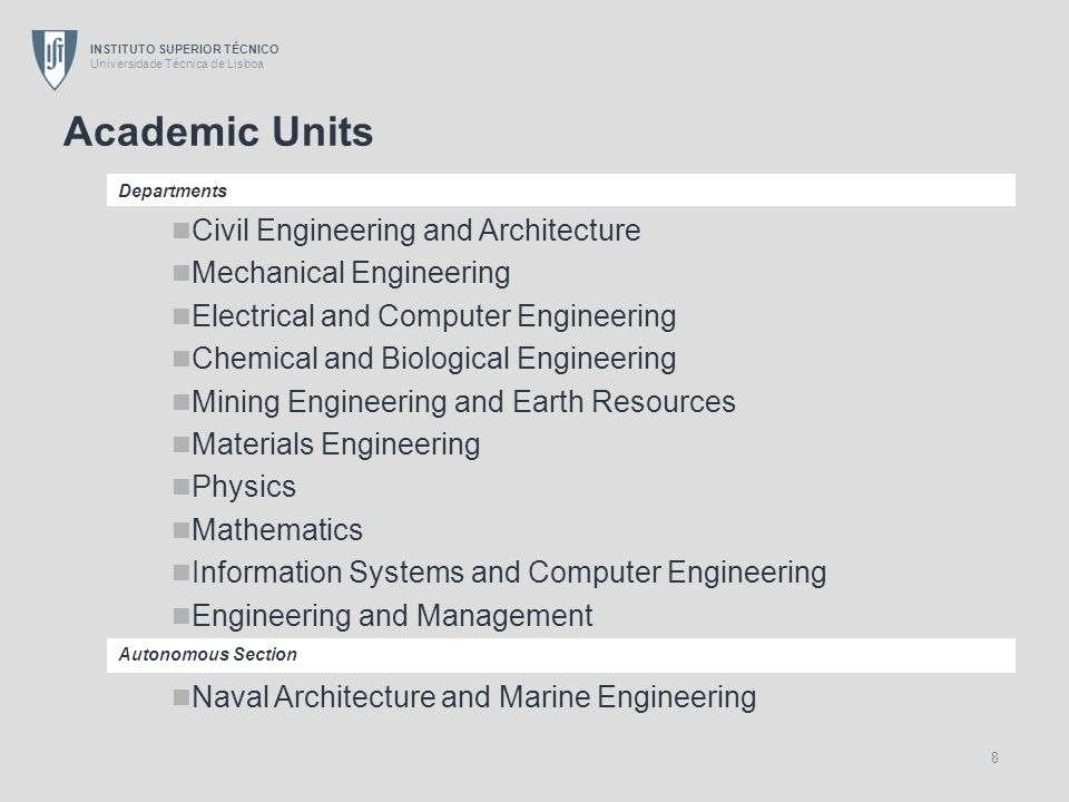 Academic Units Civil Engineering and Architecture