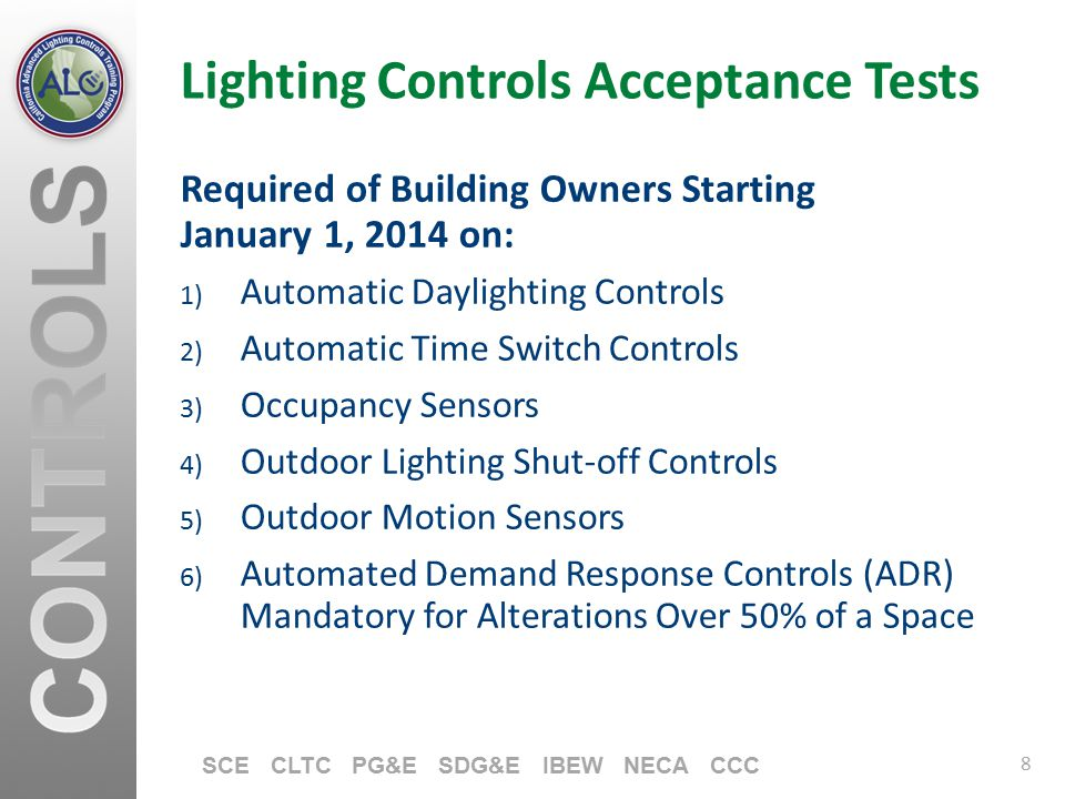 Lighting Controls Acceptance Tests