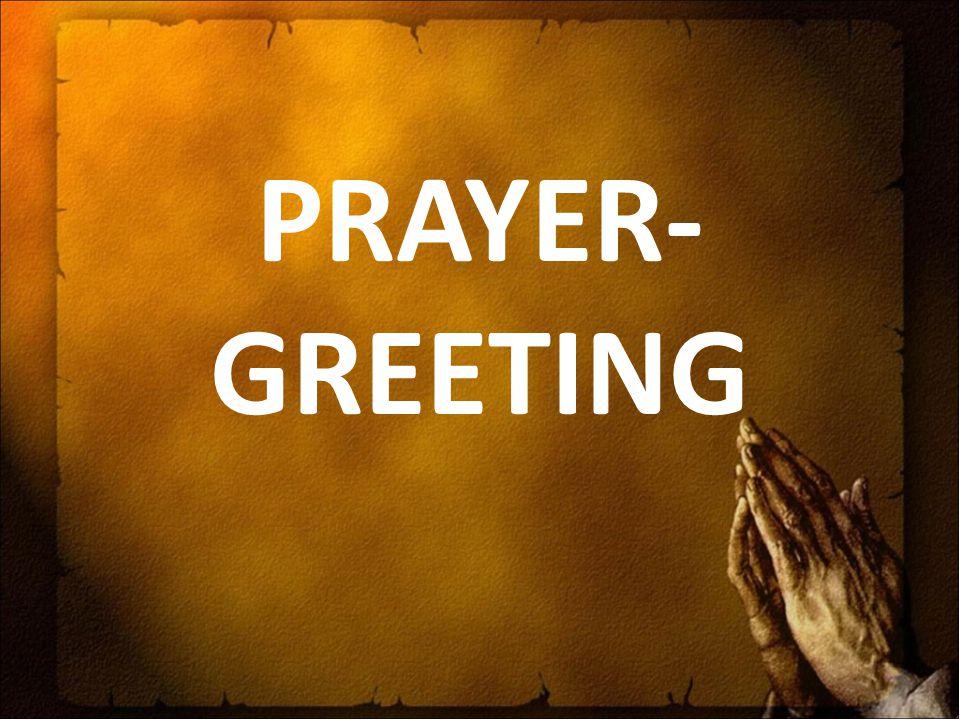 PRAYER-GREETING