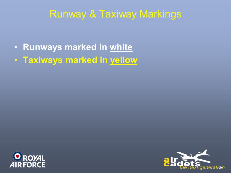 Runway & Taxiway Markings