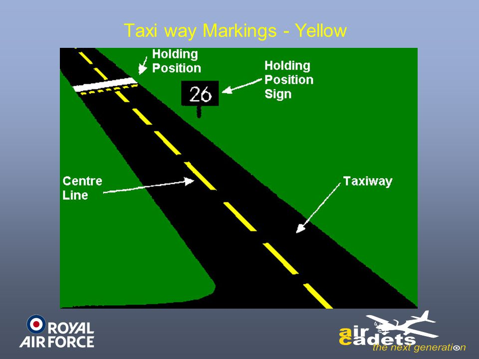 Taxi way Markings - Yellow