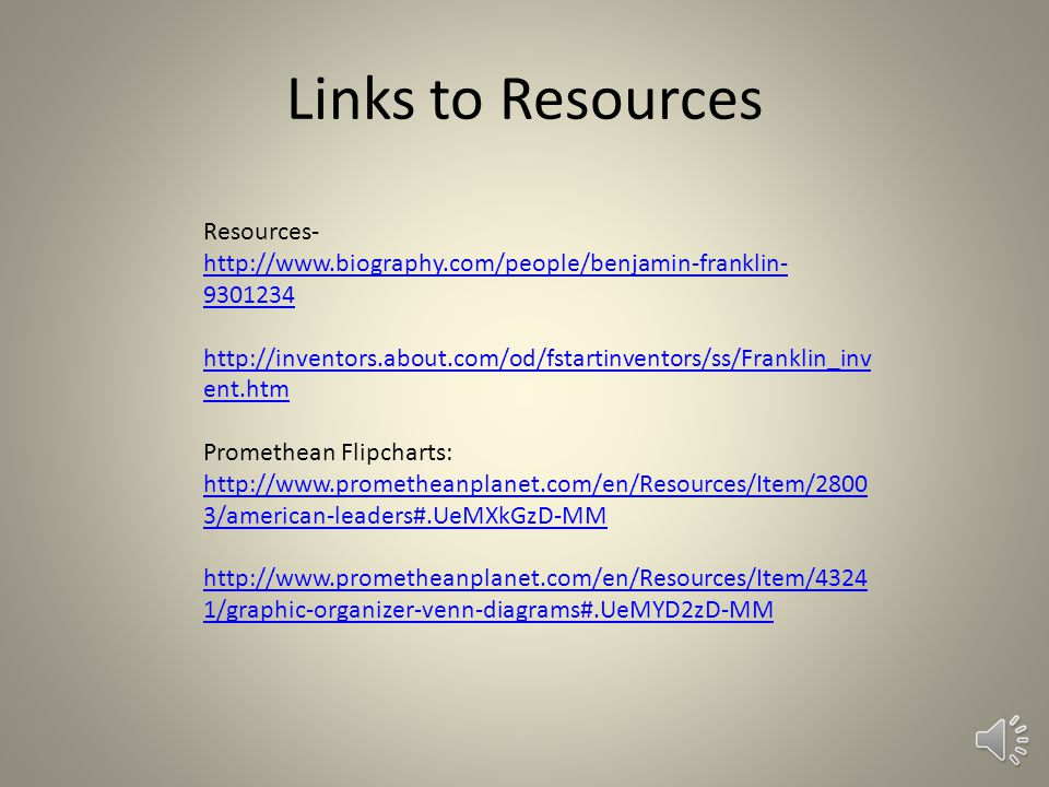 Links to Resources Resources-