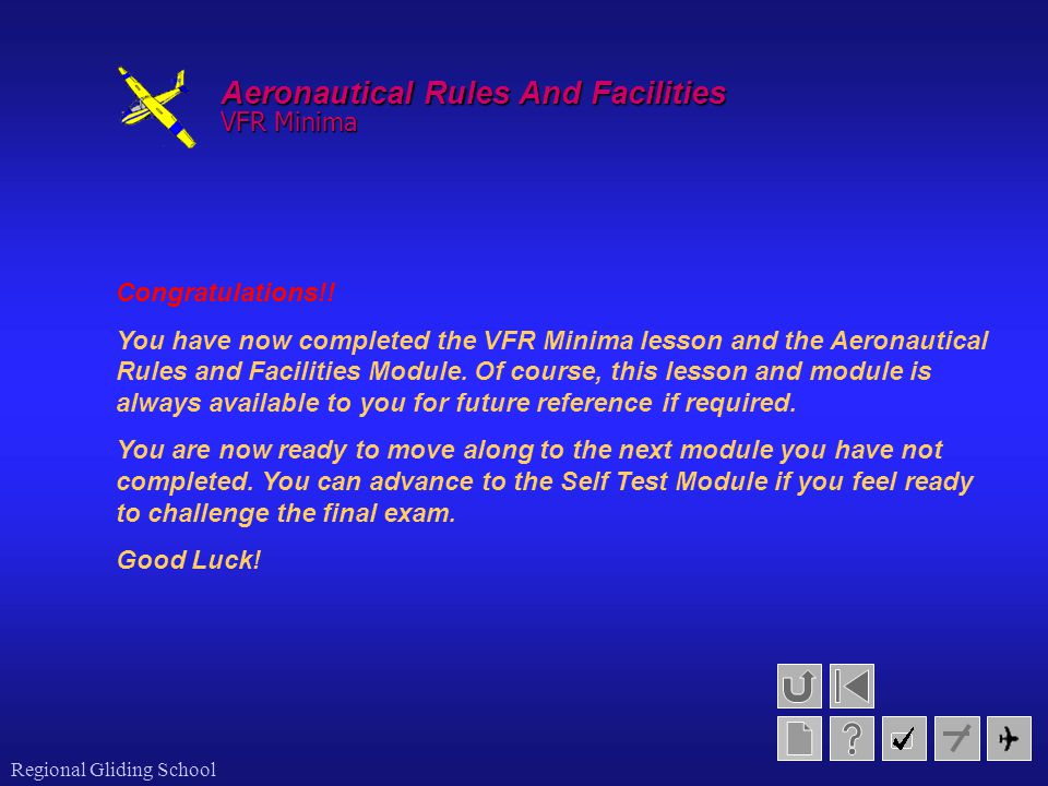 Aeronautical Rules And Facilities