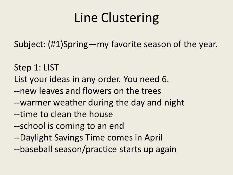 Line Clustering