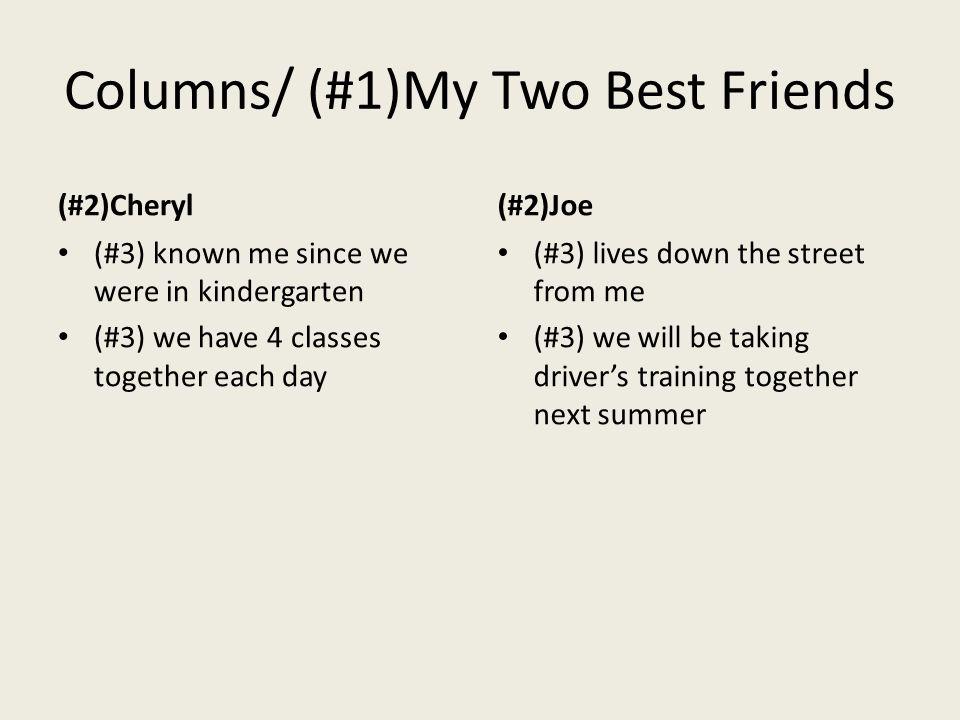 Columns/ (#1)My Two Best Friends