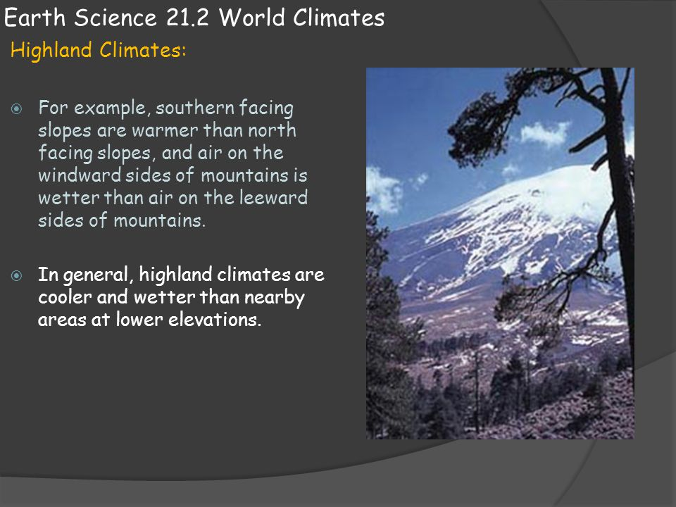 Earth Science 21.2 World Climates