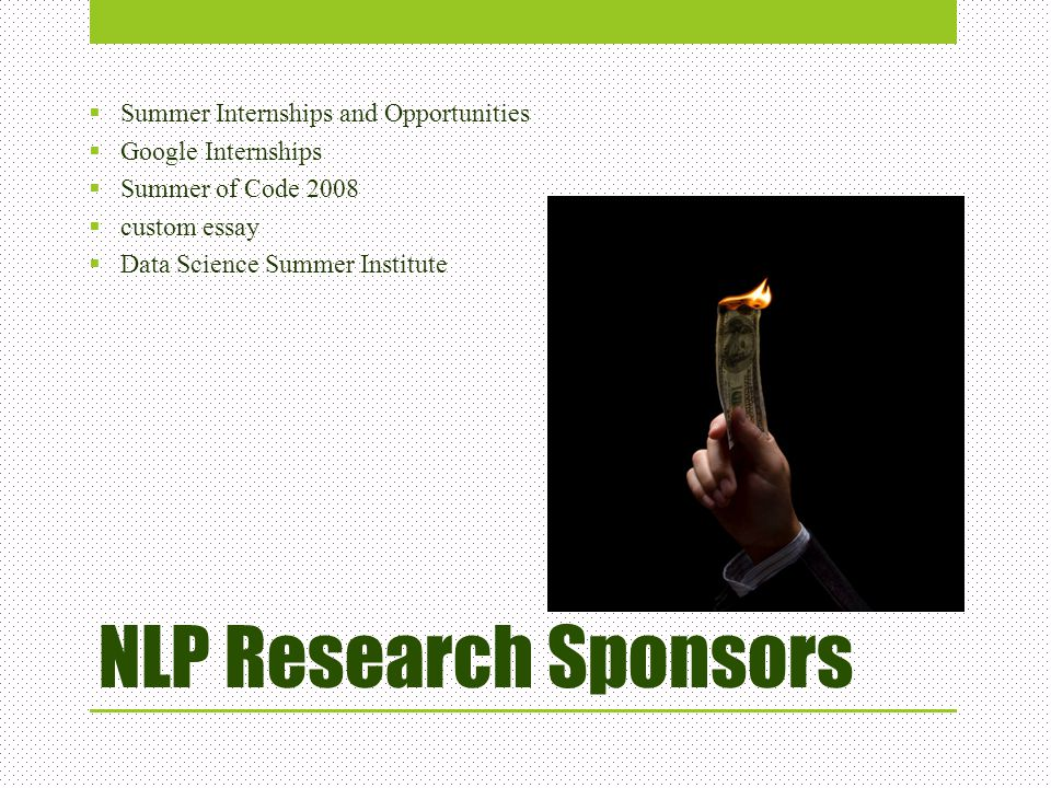 NLP Research Sponsors Summer Internships and Opportunities